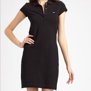Black LACOSTE polo dress with POCKETS!